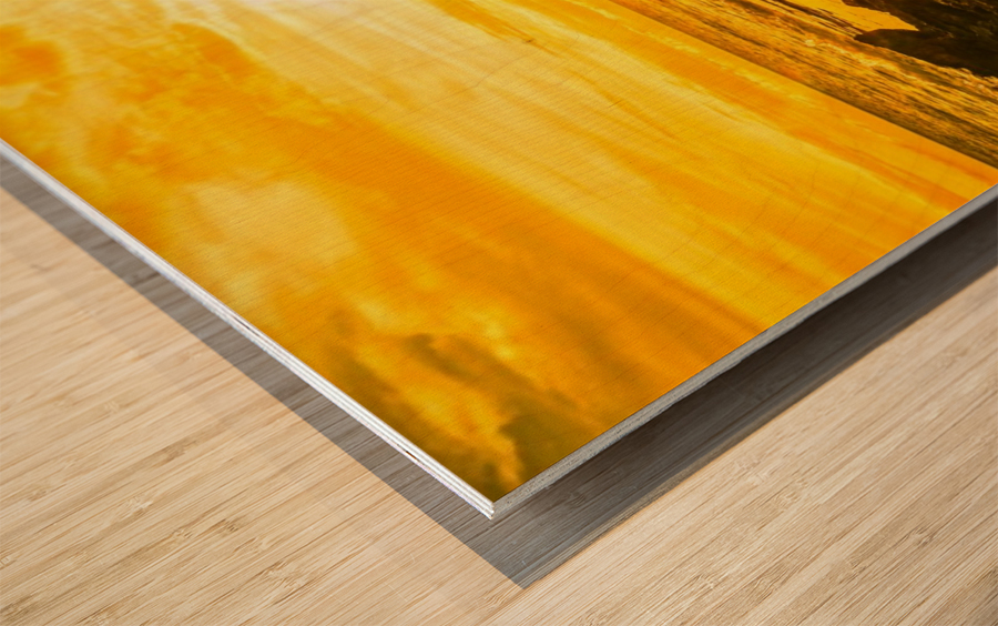 Majestic Sunset Panorama Wood print
