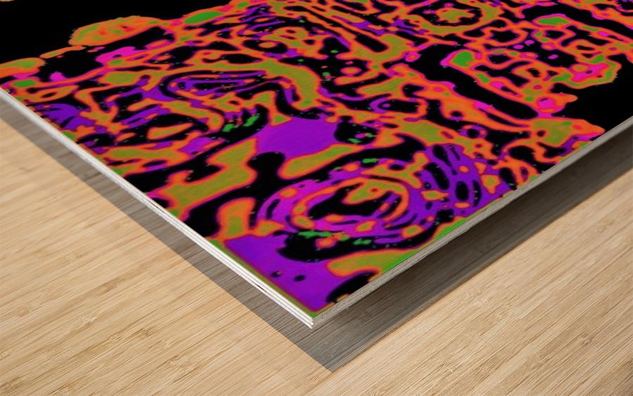 Martial Influx Wood print