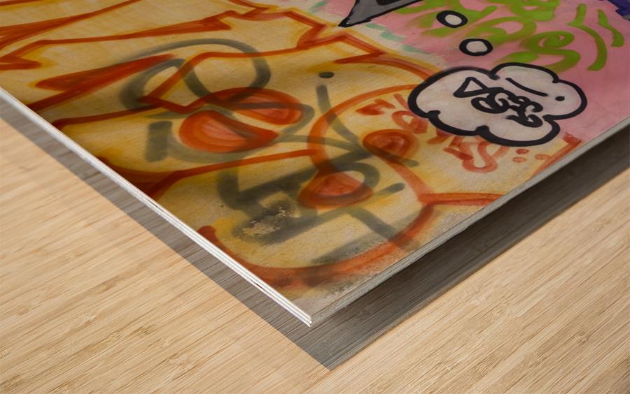 Art Graffiti Wood print