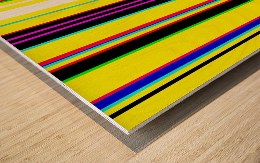 Color Bars 2 Wood print