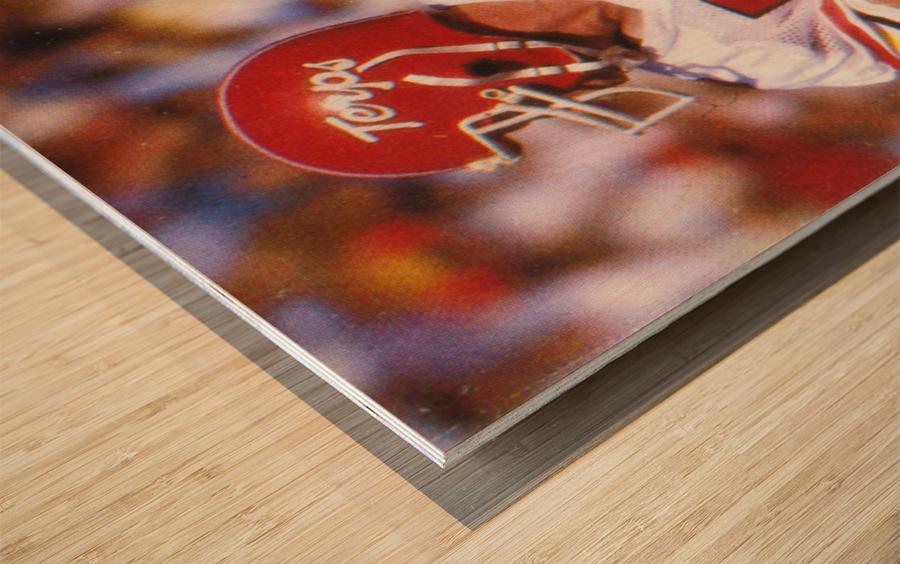 1983 Maryland Football Boomer Esiason Wood print
