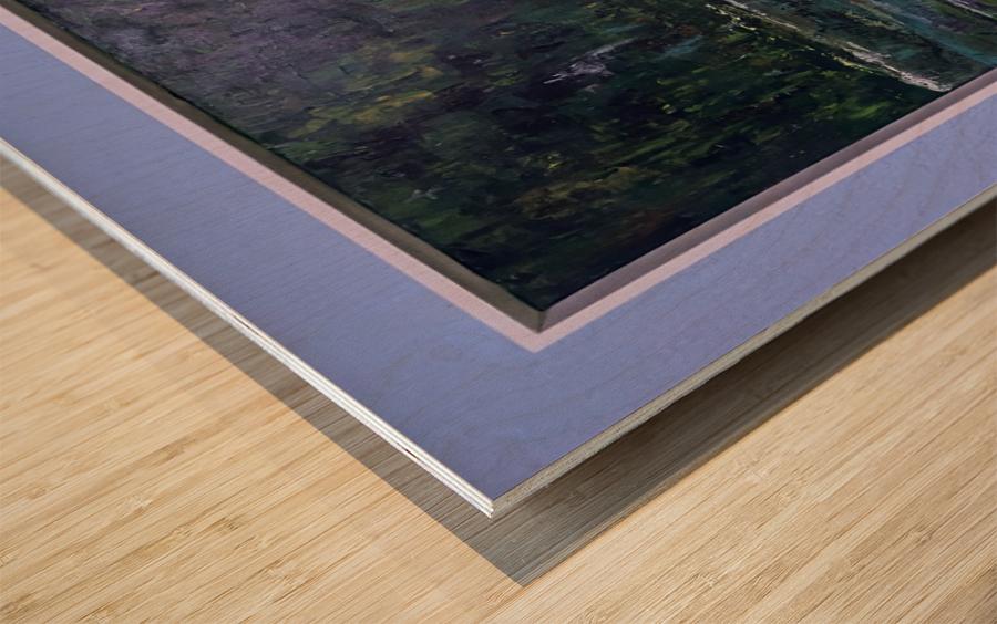 A swamp Concert  Acryl on Canvas 80x60  FRAMED  Wood print