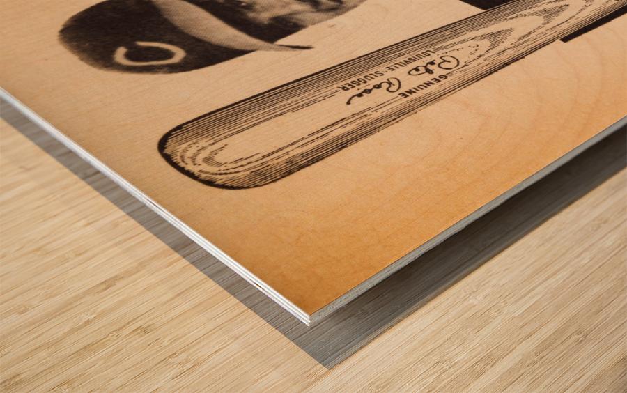 1969 Louisville Slugger Pete Rose Ad Wood print