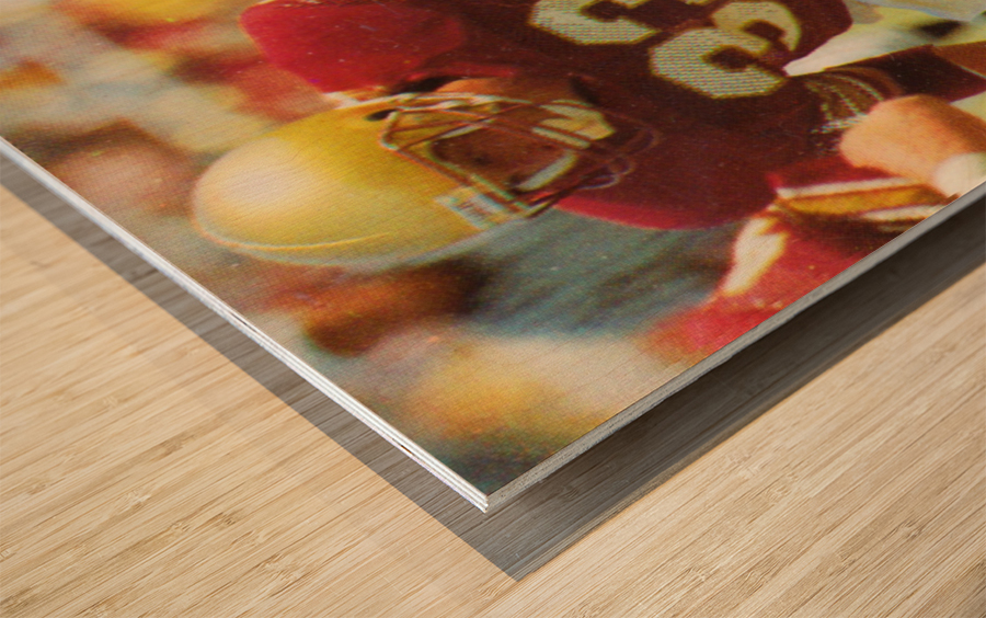 1988 Boston College Football Poster Wood print
