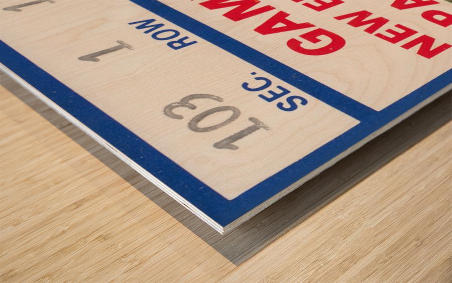 1982 Dallas Cowboys Ticket Stub Wall Art Wood print