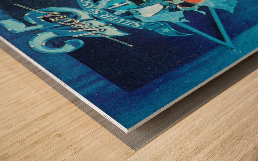 1984 Dallas Cowboys Silver Season Art Wood print