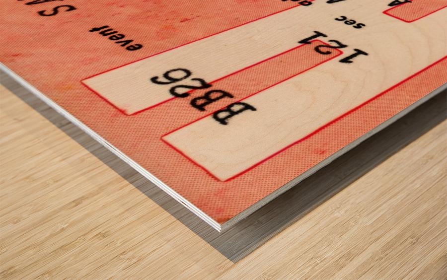 1979 Atlanta Hawks Ticket Stub Art Wood print