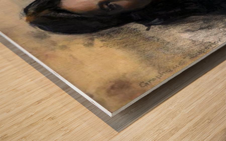 girl Wood print