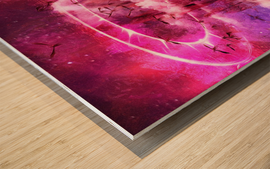 Dragonspire Wood print