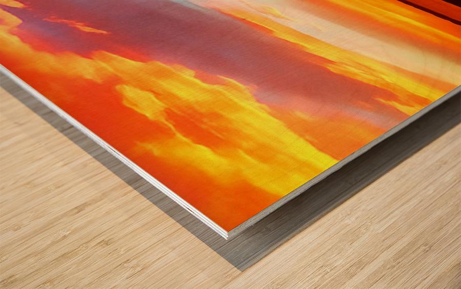 Lake Sky Wood print