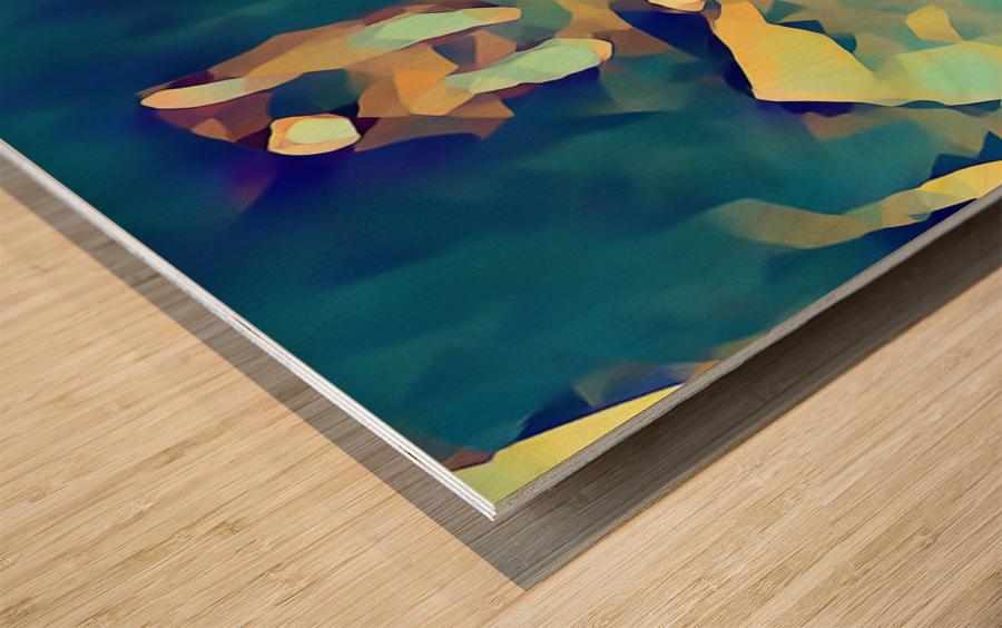 Inside of Glass Wood print