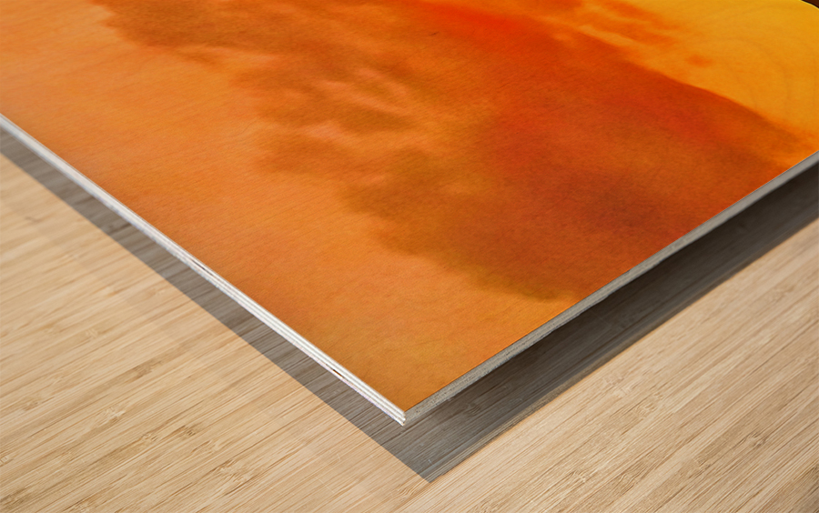 california sky Wood print