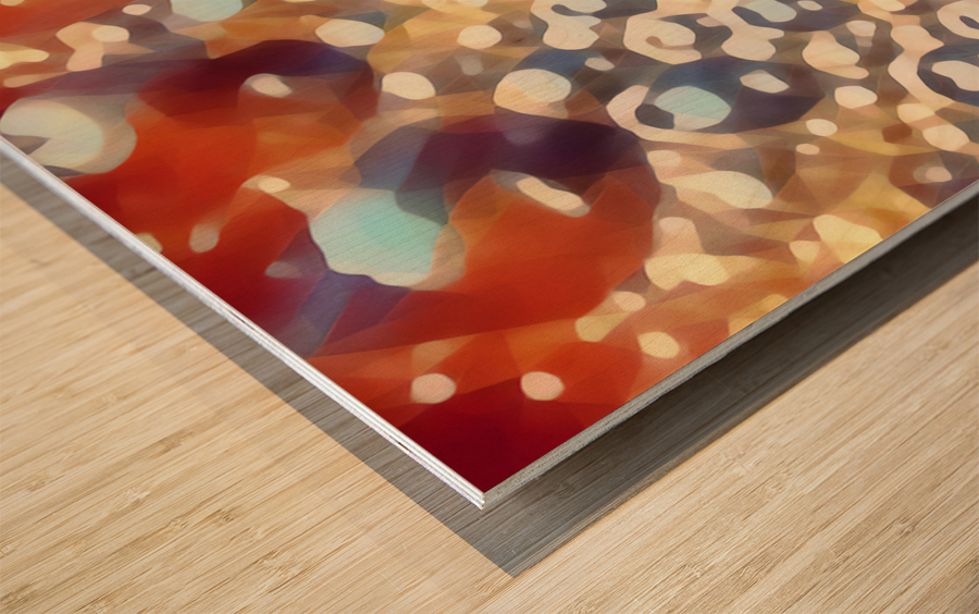 coffee bubbles art Wood print