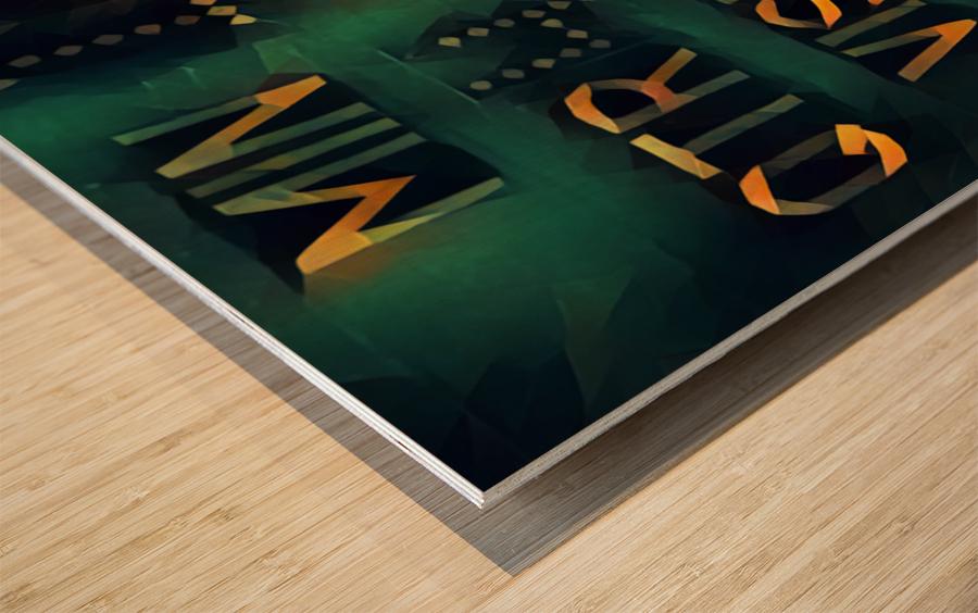 Football Scoreboard Art Wood print