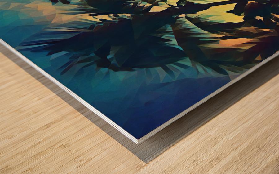 florida palm trees art Wood print