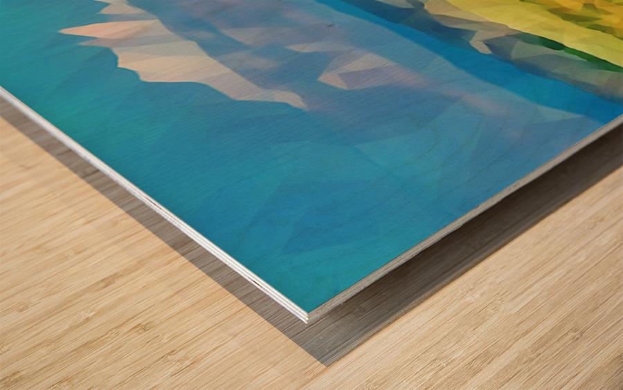 colorado skies Wood print