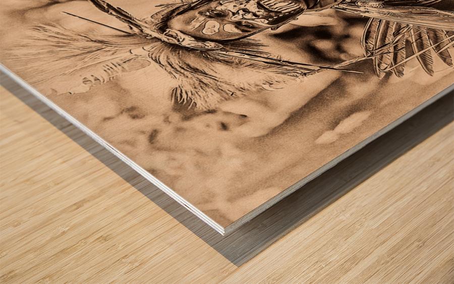 Native American 2 Wood print