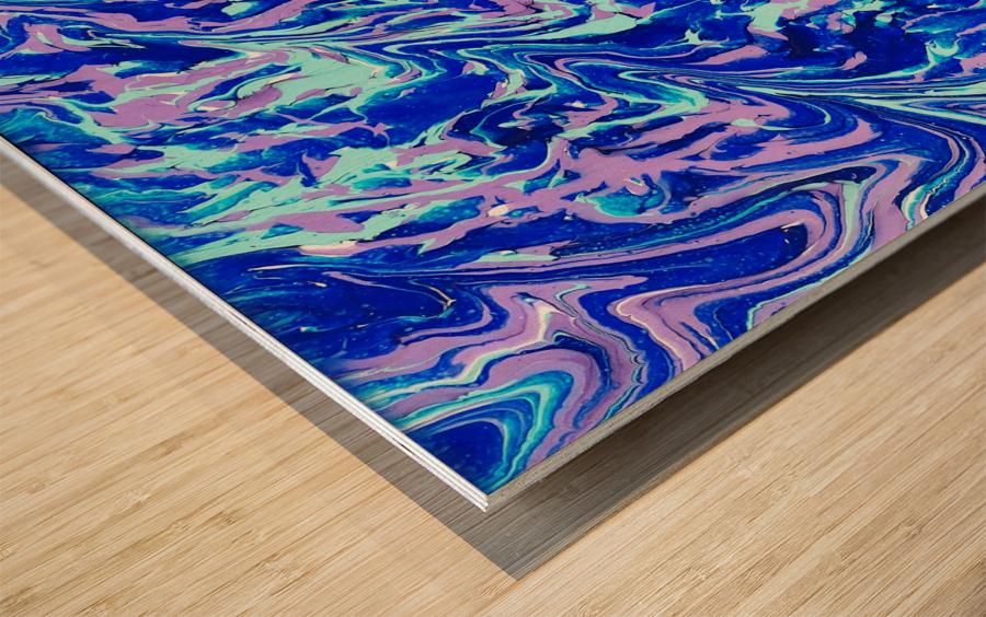 Purple Camo Wood print