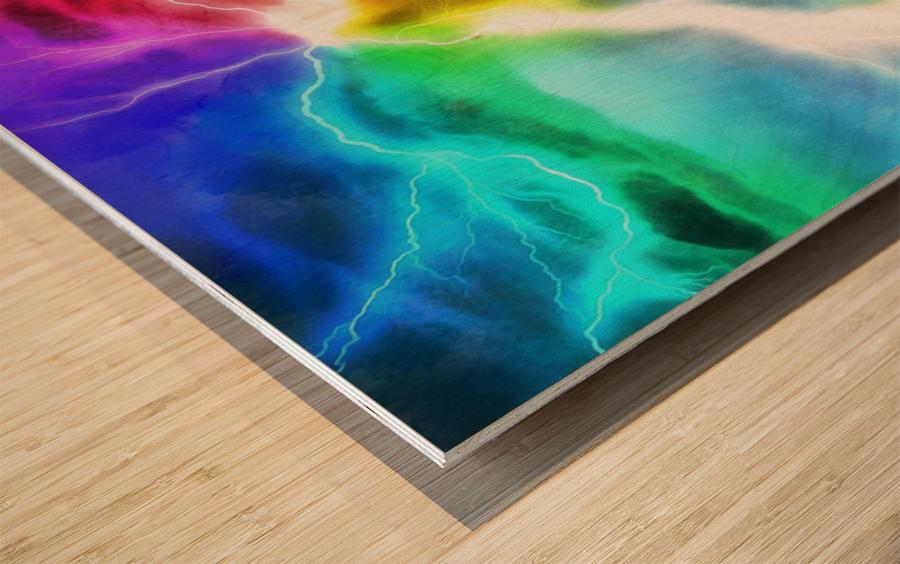 The Tesla Conduit Wood print