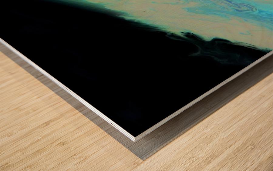 Geode II Wood print