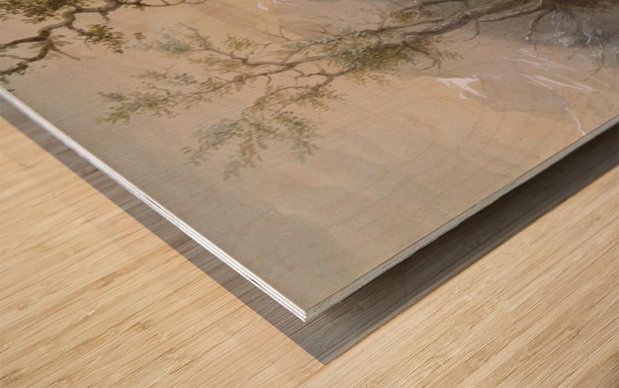 Roasting The Hump Rib Wood print