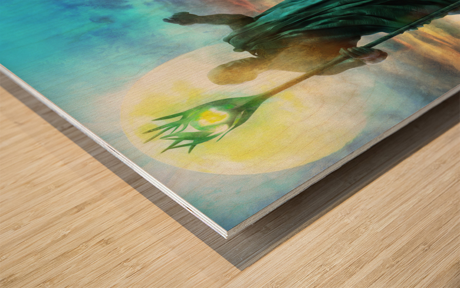 The Benevolent Light Wood print