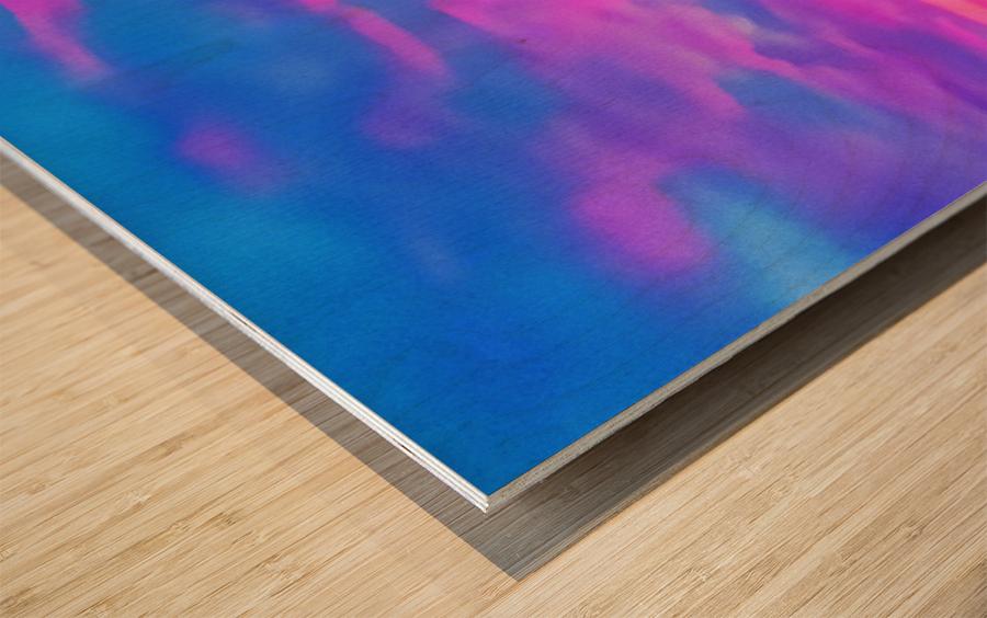 pink waves Wood print