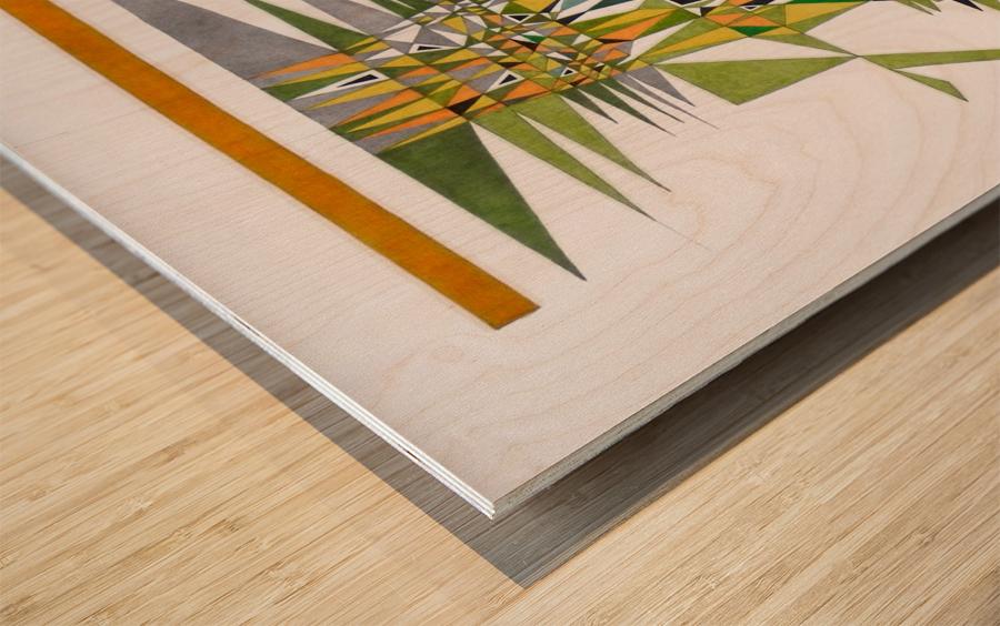 tetris number 4 Wood print
