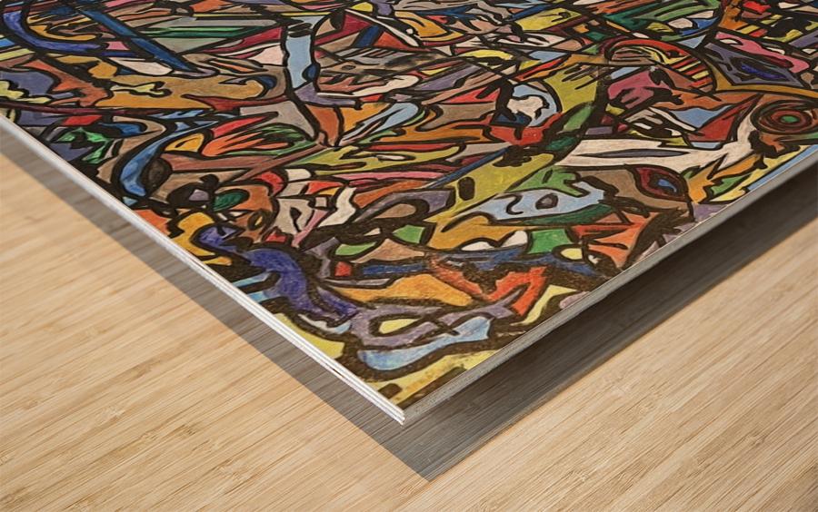 Dissociation Wood print