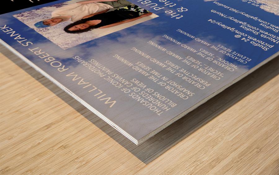 William Robert Stanek - The artist and the writer Wood print