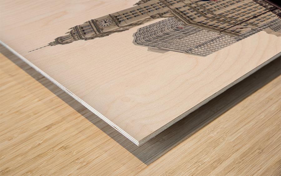 Wrigley Building Chicago Wood print