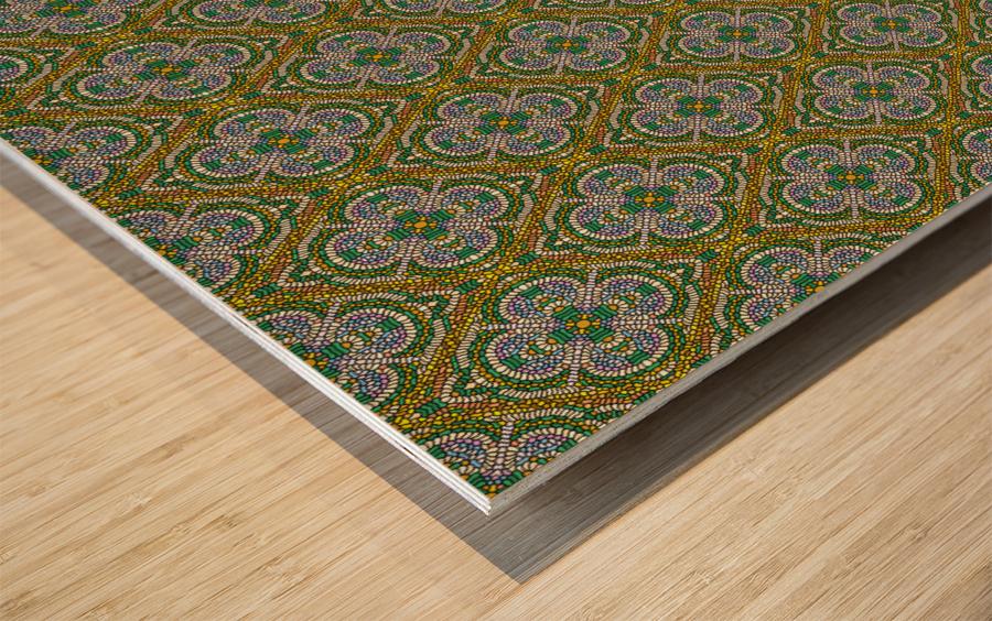 Mosaic 55 Wood print