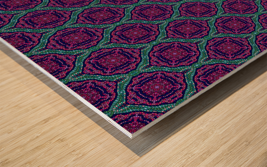 Mosaic 58 Wood print