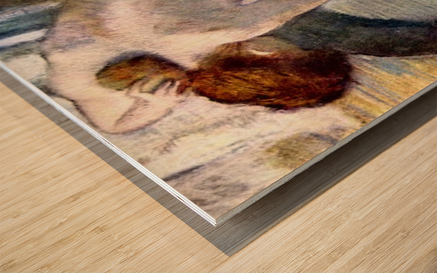 Woman washing in the tub by Degas Wood print