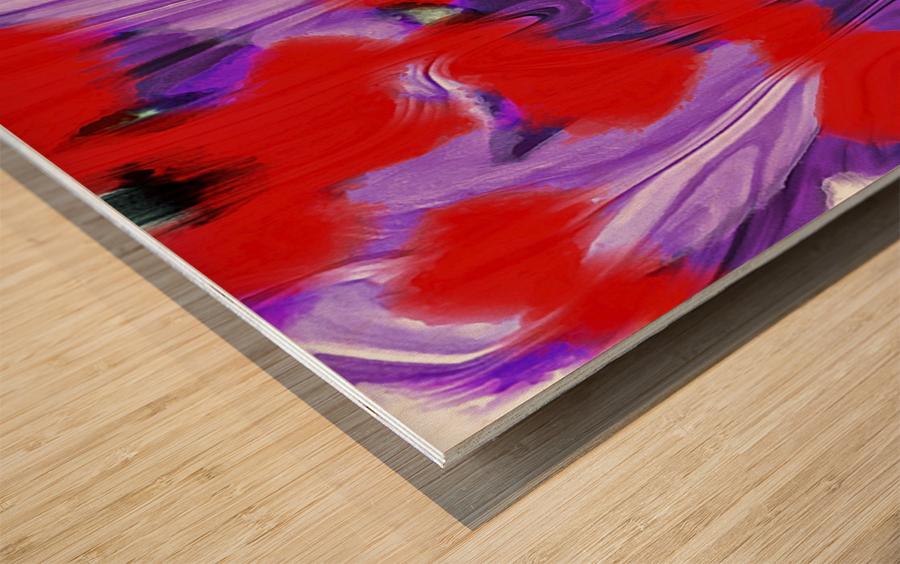 Purple Explorer Wood print
