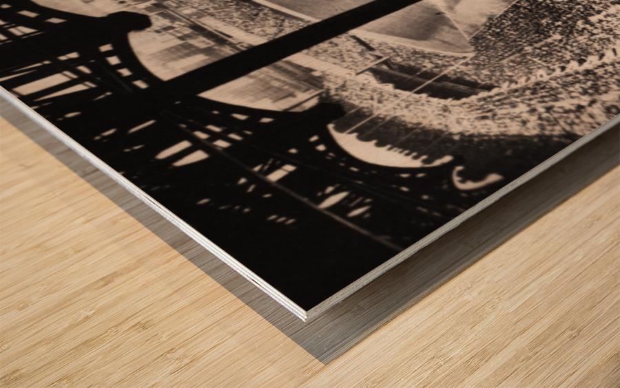1963 Yankee Stadium Art Wood print