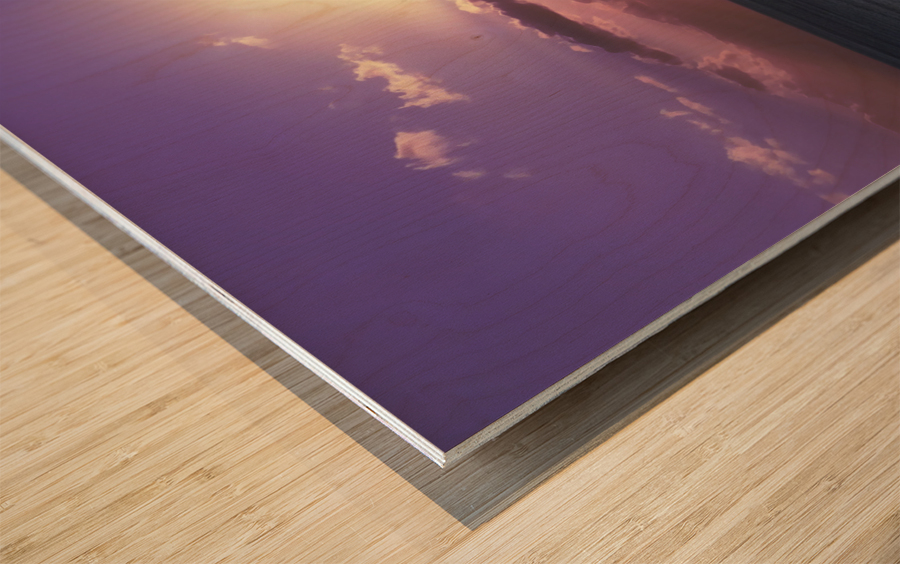Tranquility - Relaxing Sunset over the Pacific Wood print