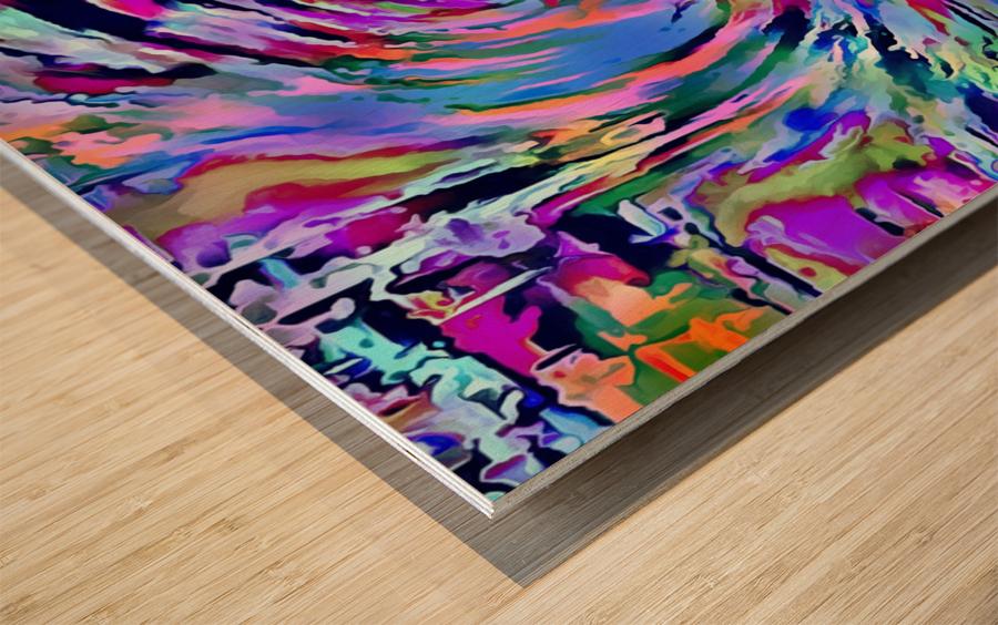 Love Comes Around Wood print