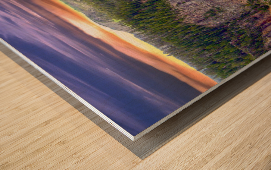 Grand Canyon of Yellowstone - The Falls in the Waning Light of Day - Yellowstone National Park at Sunset Wood print