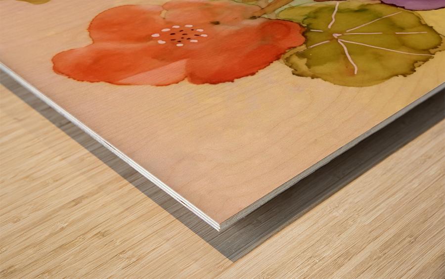 Orange Nasturiums Wood print