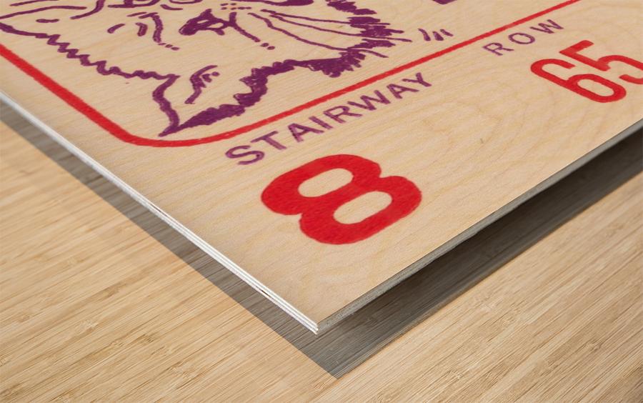 1969 USC Trojans vs. Northwestern Wildcats Wood print