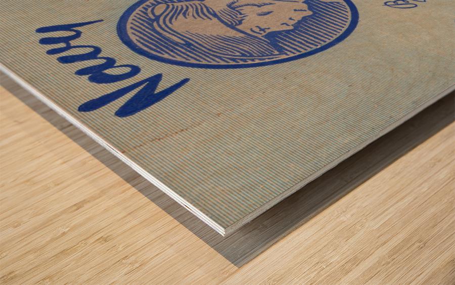 1948 Penn Quakers vs. Navy Midshipmen Wood print
