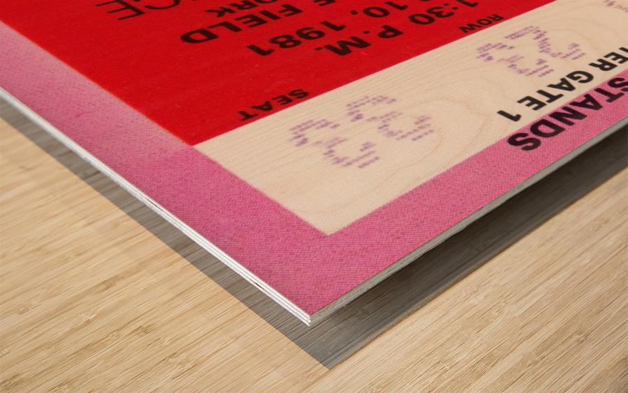 1981 Cornell Big Red vs. Harvard Crimson Wood print