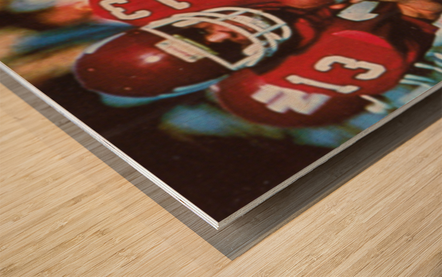 1983 Northern Illinois Huskies Football Poster Wood print