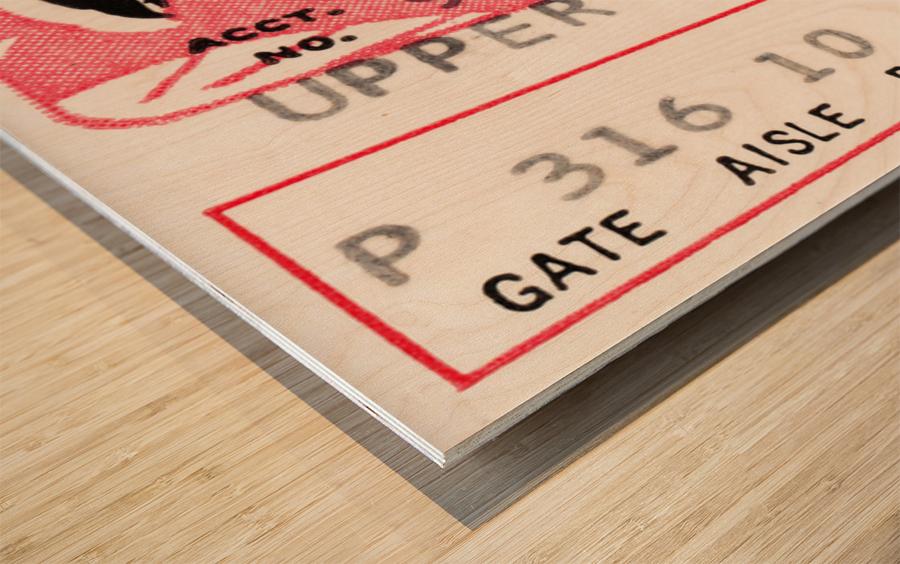 1968 Atlanta Falcons vs. Pittsburgh Steelers Ticket Art Wood print
