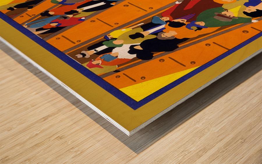 Brightest London travel poster Wood print