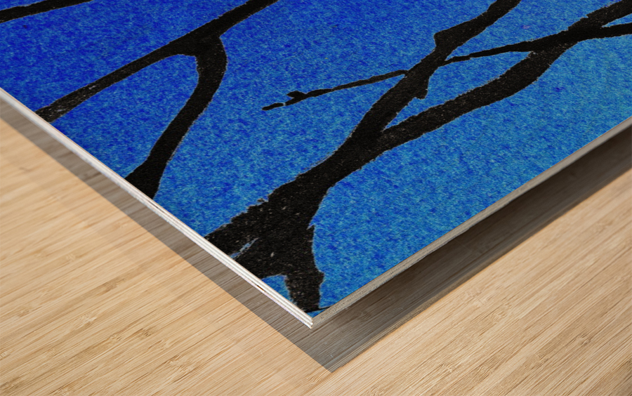 Ultramarine Forest Winter Blues III Wood print