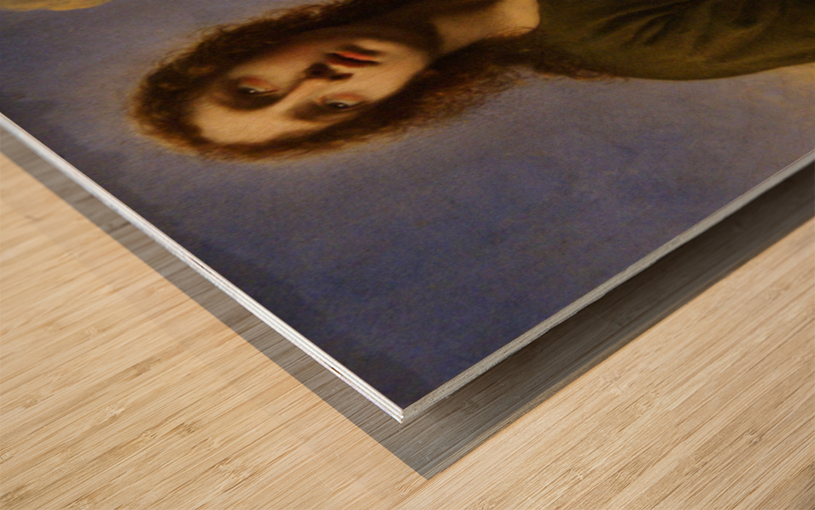 Saint John the Evangelist Writing the Book of Revelation Wood print