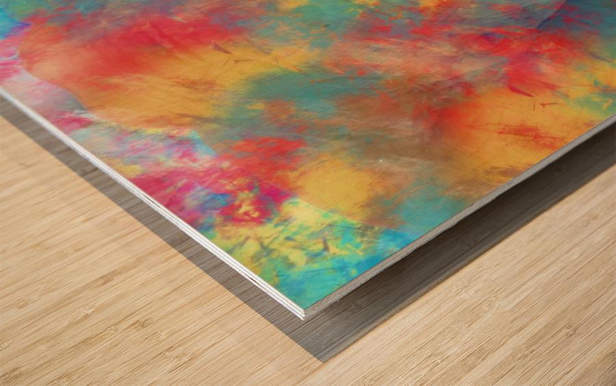Abstract Elephant Wood print