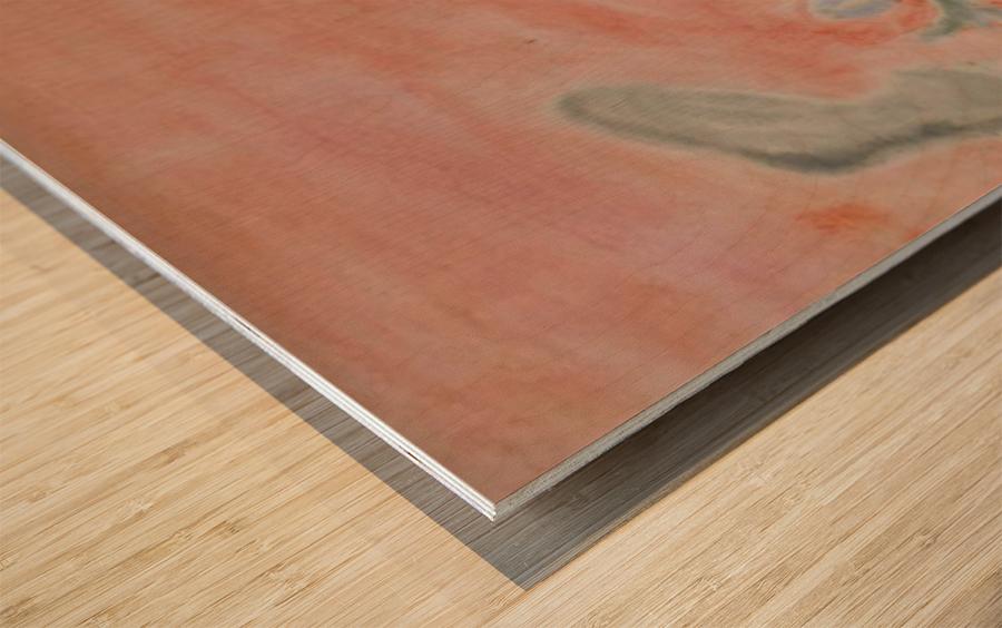 Red landscape Wood print